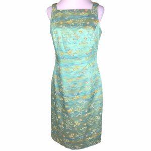 Vintage Carmen Marc Valvo Beaded Formal Dress